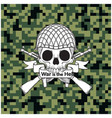 war is the he skull with gun background ima vector image vector image