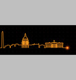 washington light streak skyline vector image vector image