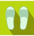 White spa slippers icon vector image vector image