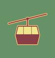 funicular cable car sign cordovan icon vector image