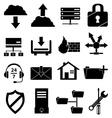 web hosting icons set vector image