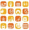 color farm icon set vector image