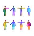 colour gradient pictograms vector image