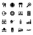 16 single icons vector image vector image