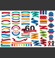 60 retro ribbons and labels eps10 vector image