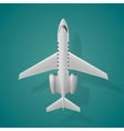 Airplane top view isolated background vector image vector image
