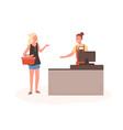 angry woman at mall checkout flat vector image vector image