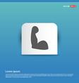 arm icon - blue sticker button vector image