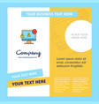 avatar on monitor company brochure template vector image vector image