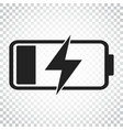 battery charge level indicator on isolated vector image vector image