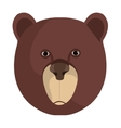 Bear cartoon animal isolated in white vector image