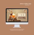 beer festival oktoberfest party celebration vector image