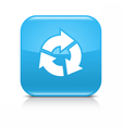 Blue arrow refresh repeat reload rotation icon vector image vector image