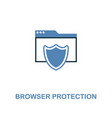browser protection icon in two colors premium vector image