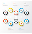 business flat icons set collection of pie bar vector image vector image