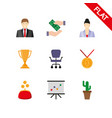 business icons set flat vector image vector image