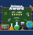 certificate template for science award with many