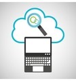 cloud computing searching gear vector image vector image