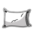 comfortable pillow icon vector image