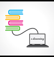 Computer education concept stock vector image vector image