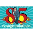 Congratulations 85 anniversary event celebration vector image
