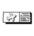 contour airplane ticket document to vacation vector image vector image
