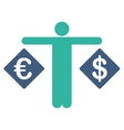 Currency compare icon from Business Bicolor Set vector image