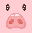 cute pink pig fac vector image vector image