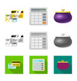 design bank and money symbol set of vector image