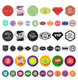 different label cartoon icons in set collection vector image
