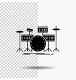 drum drums instrument kit musical glyph icon on vector image