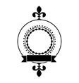 embellished emblem or label icon image vector image vector image
