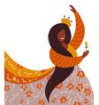 ethnic ritual dance concept beautiful young dark vector image