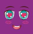 face anime expression facial vector image