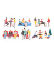 friends meeting and pastime together recreation vector image vector image