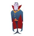 Funny cartoon Dracula vampire character vector image