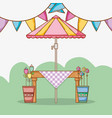 garden party cartoons vector image vector image