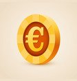 gold coin of euro isolated on bright background vector image vector image