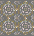 gold silver mandala scarf goldchain hexagon vector image vector image