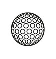 golf ball icon on white background vector image