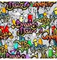 Graffiti characters seamless pattern vector image vector image