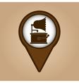 gramophone vintage symbol icon vector image vector image