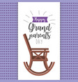 grandparents day with chair and ribbon design vector image vector image
