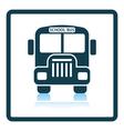 Icon of School bus vector image