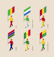 isometric people with flags of african countries vector image vector image