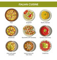 italian cuisine flat colorful poster with vector image vector image