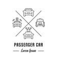 line banner passenger car vector image