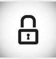 lock on white background vector image
