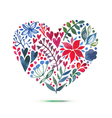 Love card with watercolor floral bouquet Valentine vector image vector image