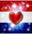 love netherlands flag heart background vector image vector image